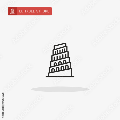 Foto Tower Of Babel icon vector. Tower Of Babel icon for presentation.