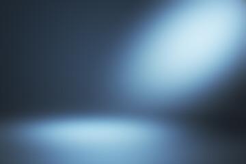 Creative abstract blue gradient interior.