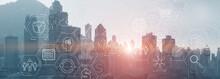 Modern City Skyline Business F...