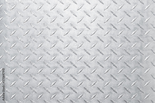 Obraz na plátně light metal texture with diamond print, silver background