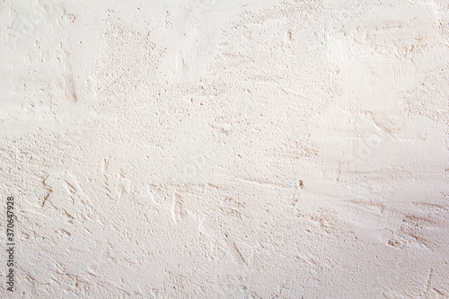 Obraz na plátně White plastered concrete wall texture, painted built structure of grungy uneven painted plaster