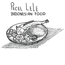 Pecel Lele, Indonesian Food, D...