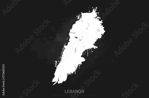 Photo Vector Country Map Series of Watercolor Concepts in Lebanon, Middle East