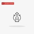 Person icon vector. Person icon for presentation.