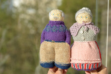 Portrait Of Knitted And Handma...