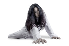 Scary Ghost Woman Crawling