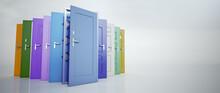 Multicolored Doors Choice.