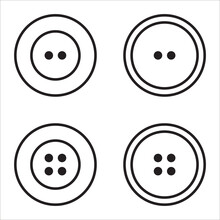 Clothes Buttons Icon Set Logot...