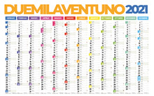 2021 Italian Calendar With Italian Holidays, Zodiac , Saints, Moon Phases, Astronomical Events, Sunset And Sunrise