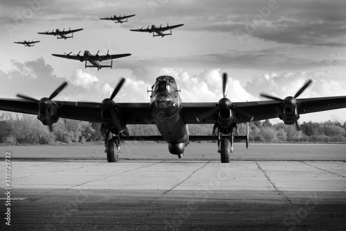 Cuadros en Lienzo Avro Lancaster WW2 British heavy bomber