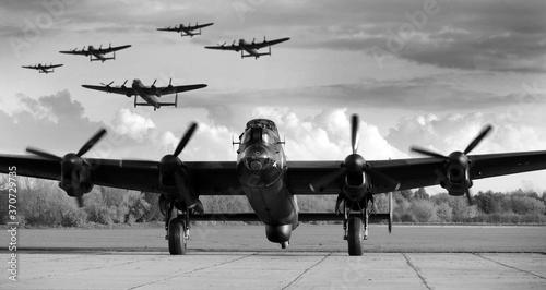 Avro Lancaster WW2 British heavy bomber Fotobehang
