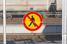 No Access Railroad Sign Finland Europe