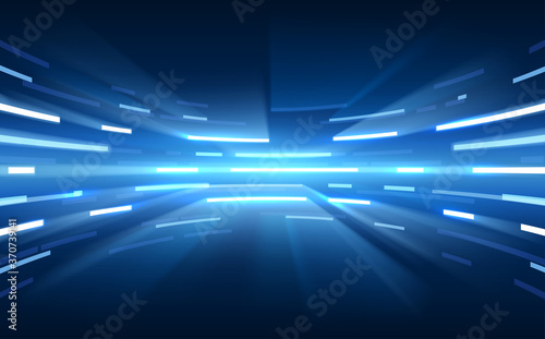 Blue light abstract lines background