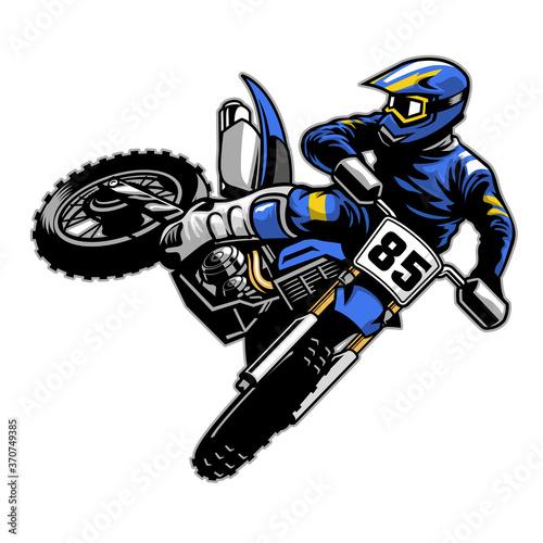 Obraz na plátně tail whipping motocross