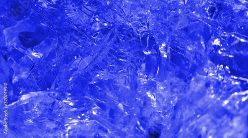 Isolated macro abstract of the surface of a clear quartz rock filtered to appear Fototapeta