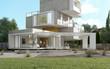Multilevel original villa in the countryside