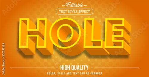 Fotografija Editable text style effect - Hole theme style.