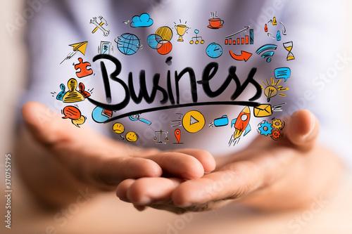 Foto project business plan concept managment success digital