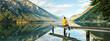 canvas print picture - Stille am Bergsee