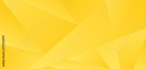 Abstract yellow low polygon background and texture.