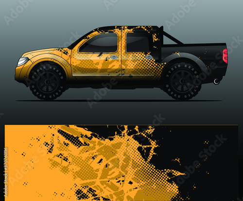 truck and vehicle Graphic vector Canvas Print