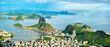 Leinwandbild Motiv Cityscape of Rio de Janeiro from Corcovado in Brazil