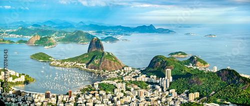 Photographie Cityscape of Rio de Janeiro from Corcovado in Brazil