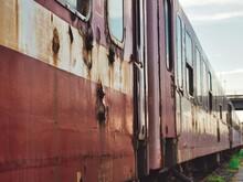Old Rusty Train Wagon In Sibiu...