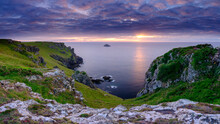 Summer Sunset Over The Rumps And Pentire Head On The North Coast Of Cornwall, UK