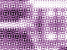 Abstract Purple Background With Circles. Pattern, Background Of White, Black, And Purple Circles.