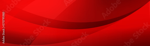 Volumetric lines on a red background - panoramic Vector background Slika na platnu