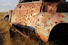 Bullet Ridden Old Car