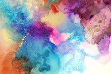 Abstract Watercolor And Acryli...