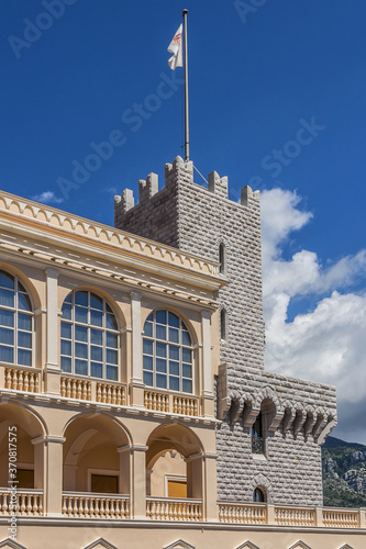 Photographie Prince's Palace of Monaco is official residence of Prince of Monaco, built in 1191 as a Genoese fortress