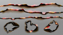 Burnt Paper Edges With Fire An...