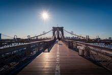 Famous Brooklyn Bridge Over Ri...