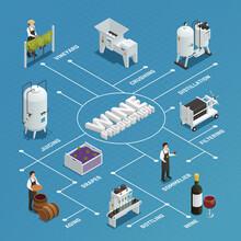 Wine Production Isometric Flow...