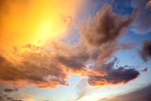 Dramatic Sunset Landscape With...