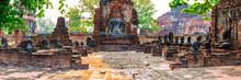 Thailand,ÔøΩPhra Nakhon Si Ayutthaya Province, Panorama Of Ancient Wat Mahathat Temple