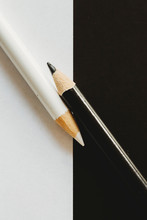 Macro Black And White Coloring Pencils