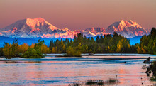 Sunrise On Mt Foraker And Mt H...