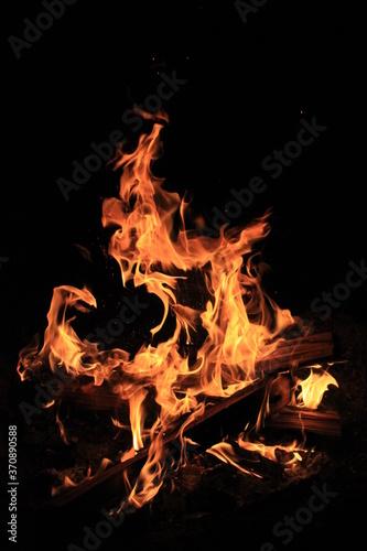 Obraz na plátně 激しい炎
