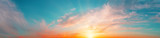 Fototapeta Na sufit - Sunrise sky panorama with bright sun