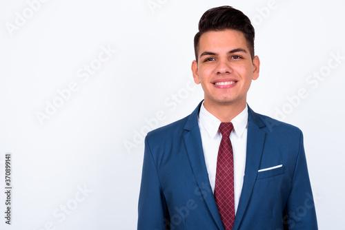 Fotografía Portrait of happy young handsome multi ethnic businessman in suit