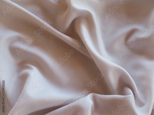 Obraz na plátně abstract white and cream waves from cloth, texture used for background