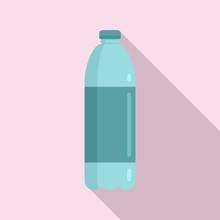 Survival Water Bottle Icon. Flat Illustration Of Survival Water Bottle Vector Icon For Web Design
