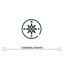 Cardinal Points Vector Line Ic...