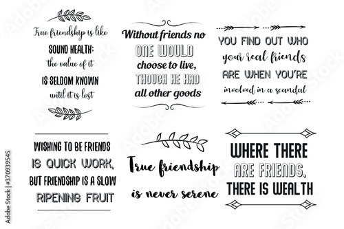 Set of Calligraphy sayings for print Fototapete
