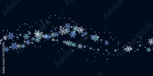 Fotografie, Obraz Snowflakes seamless background