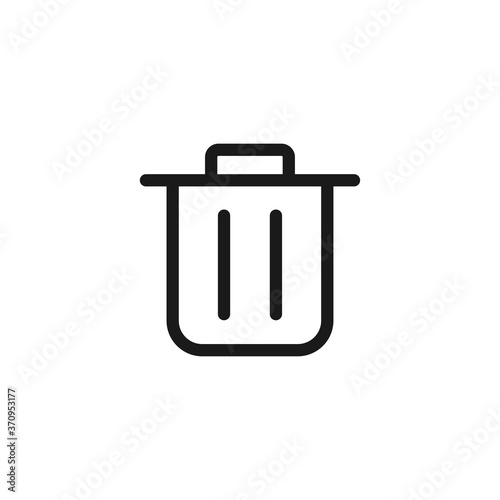 Fototapety, obrazy: Trash can icon. Delete symbol modern, simple, vector, icon for website design, mobile app, ui. Vector Illustration